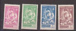 ALGERIE         N°  YVERT  :   205/208    NEUF AVEC  CHARNIERES      ( Ch 1/19  ) - Algérie (1924-1962)