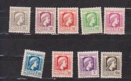 ALGERIE         N°  YVERT  :   209/217   NEUF AVEC  CHARNIERES      ( Ch 1/19  ) - Algérie (1924-1962)