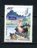 POLYNESIE 1993 N° 439A ** Neuf MNH  Superbe Taipei 93 Horoscope Chinois Le Coq Animaux Animals - Polynésie Française