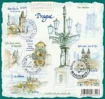 FRANCE 2008 BLOC PRAGUE OBLITERE  - BF126 - BF 126  - - Blocs & Feuillets