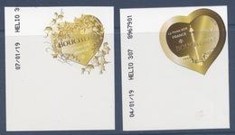 2 Adhésifs 2019 Coeur Boucheron, Valeur Faciale 0,88 + 1,76 Dates 04 Et 07/01/19 - Adhésifs (autocollants)