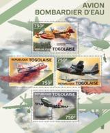 Togo  2014  Firefighting Water Tanker Planes - Togo (1960-...)