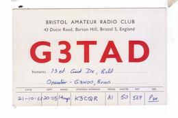 Carte QSL England Bristol Amateur Radio Club - Radio Amateur