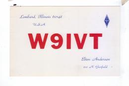 Carte QSL USA Lombard IL Illanois - Radio Amateur