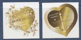 2 Adhésifs 2019 Coeur Boucheron, Valeur Faciale 0,88 + 1,76 - Adhésifs (autocollants)