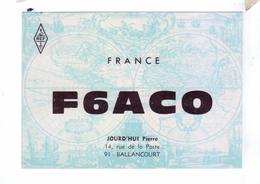 Carte QSL France Ballancourt REF - Radio Amateur