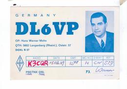 Carte QSL Germany Langenberg Deutchland - Radio Amateur