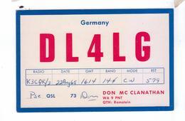Carte QSL Germany Ramstein  Deutchland - Radio Amateur