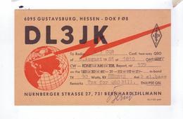 Carte QSL Germany Hessen  Deutchland - Radio Amateur