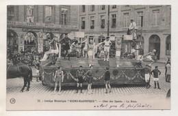 CARTE DE 1929 THEME LA BOXE - BOXEURS SUR LE CHAR DES SPORTS CORTEGE HISTORIQUE REIMS MAGNIFIQUE - 1926, VOIR LE SCANNER - Boxe