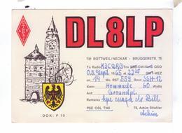 Carte QSL Germany Rottweil Neckar  Deutchland - Radio Amateur