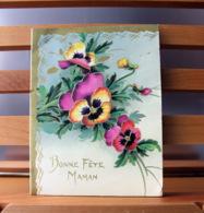 Piece Sur Le Theme De Bonne Fete Maman - Bouquet De Pensees - Fête Des Mères