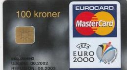 EUROCARD  MASTERCARD....100 KRONER    EURO 2000 - France