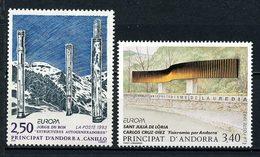 ANDORRE 1993 N° 430/431 **  Neufs MNH Superbes C 3,60 € EUROPA Art Contemparain Dubon à Canillo Cruz Diez - Andorre Français