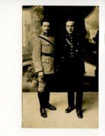 Piece Sur Le Theme De Cp - Photographie Ancienne - 2 Militaires En Tenue - Militaria