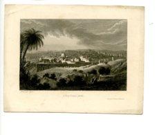 Piece Sur Le Theme De Eau Forte - Jerusalem - Itineraire De Paris A Jerusalem - Grave Par Nyon - Vieux Papiers