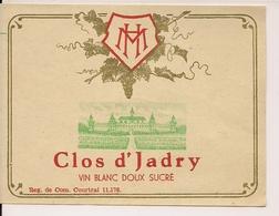 CLOS D'JADRYVIN BLANC DOUX SUCRE HM  (1) - Blancs
