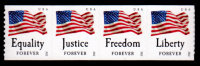 USA, 2012, Scott #4633-4636, Four Freedoms, Coil Strip Of 4, APU, Perf. 9.5, MNH, VF - Unused Stamps