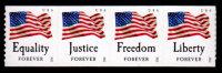 USA, 2012, Scott #4633-4636, Four Freedoms, Coil Strip Of 4, APU, Perf. 9.5, MNH, VF - Ongebruikt