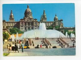 Piece Sur Le Theme De Espagne - Barcelona - Palacio Nacional Y Fuente Monumental - Espagne