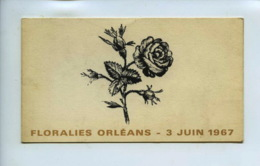 Piece Sur Le Theme De Floralies Orleans - 3 Juin 1967 - Au Grillardin - Chateauneuf Sur Loire - Menus