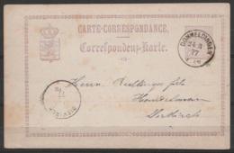 Luxembourg - Carte-correspondance EP 5c Violet De EICH Càd DOMMELDINGEN /24-3 1877 Pour DIEKIRCH - Stamped Stationery