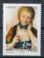 Frankreich 'Emilie Du Châtelet, Mathematikerin Physikerin' / France 'du Châtelet, Mathematician & Physicist' **/MNH 2019 - Physik