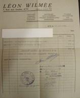 DH. 105. Facture De Léon Wilmée 7, Rue Aux Gades à Ath De Dommage De Guerre. - Documents Historiques