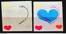 France 1230 1231 Autoadhésifs Coeurs De Courrèges Neuf ** TB MNH Sin Charnela - Adhésifs (autocollants)