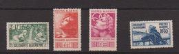 ALGERIE         N°  YVERT  :   249/252    NEUF AVEC  CHARNIERES      ( Ch 1/21  ) - Algérie (1924-1962)