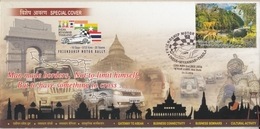 India  2016  Car  India Myanmar Thailand Friendship Motor Rally  ND  Special Cover   # 16484  D  Inde Indien - Cars