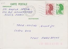 Secap 5 Lo W  PARIS 14 AN. 2 / R. AMIRAL MOUCHEZ (14e) Guichet Annexe 05/01/1987 - Mechanical Postmarks (Other)