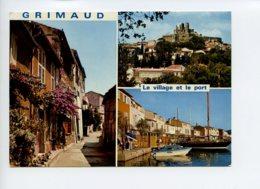 Piece Sur Le Theme De Multivues - Grimaud - Le Village Et Le Port - France