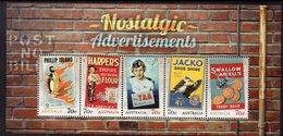 AUSTRALIA, 2014 NOSTALGIA ADVERTS MINISHEET F.USED - 2010-... Elizabeth II