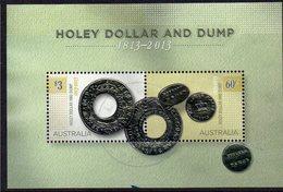 AUSTRALIA, 2013 HOLEY DOLLAR AND DUMP MINISHEET F.USED - 2010-... Elizabeth II