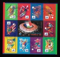 FRANCE Bloc 19 Coupe Du Monde De Football 1998 Avec Gomme - Blocs & Feuillets