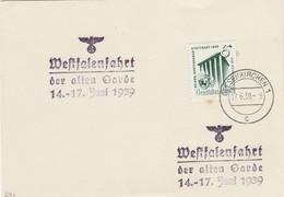 Blanko Sonderstempelbeleg 1939: Gelsenkirchen: Westfalenfahrt Der Alten Garde - Ohne Zuordnung
