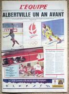 Journal L'EQUIPE: ALBERTVILLE Un An Avant Les Jeux XVI° Jeux Olympiques D'Hiver N° 13923 Du 8 Février 1991 - Journaux - Quotidiens