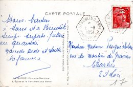 (L135) St Aigulin Charente Maritime CP N° 4 (La Barde) Sur Carte Adressée à Chartres (1951) - 1921-1960: Periodo Moderno