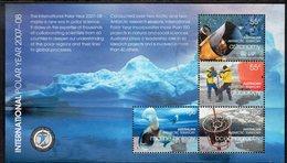 AAT, 2008 POLAR YEAR 07/08 MINISHEET F.USED - Australian Antarctic Territory (AAT)