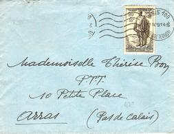 1939- Enveloppe Affr. N°  420 SEUL  ( Monument National Aux Victimes Civiles De La Guerre-Lille ) - Marcophilie (Lettres)