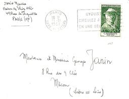 1956- Enveloppe Affr. N°1069 SEUL ( Chardin ) - Marcophilie (Lettres)