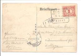 Blokstempel LAREN AMSTERDAM C 18.8.11 PKT Rotterdam Leuvehaven - Storia Postale