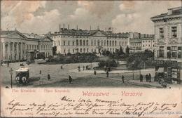 ! 1900 Alte Ansichtskarte Aus Warschau, Warszawa, Varsovie, Tram, Place Krasinski, Polen, Poland, Pologne, Pferdebahn - Pologne
