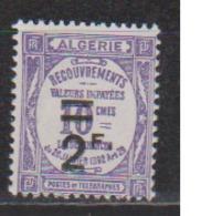 ALGERIE         N°  YVERT  :   TAXE 24   NEUF AVEC  CHARNIERES      ( Ch 1/22  ) - Algérie (1924-1962)