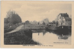 CATILLON-SUR-SAMBRE - L'ECLUSE DU BOIS DE L'ABBAYE - BELLE ANIMATION - VERS 1900 - France