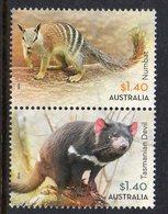 AUSTRALIA, 2015 $1.40 NATIVE ANIMALS PAIR F.USED - 2010-... Elizabeth II