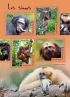 Togo  2014  Fauna Monkeys  Gibbons - Togo (1960-...)