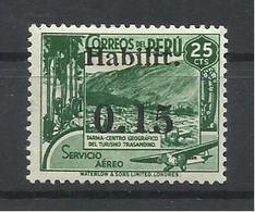 PERU  YVERT AEREO  65    MH  * - Perù