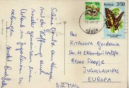 Jambo Kenya - Animals - Via Yugoslavia 1989.nice Stamps Motive - Butterflies / Papillons / Schmetterlinge / Farfalle - Kenia (1963-...)